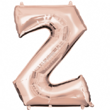 "Rose Gold Letter Z Balloon - Rose Gold Letter Balloon (34"")"